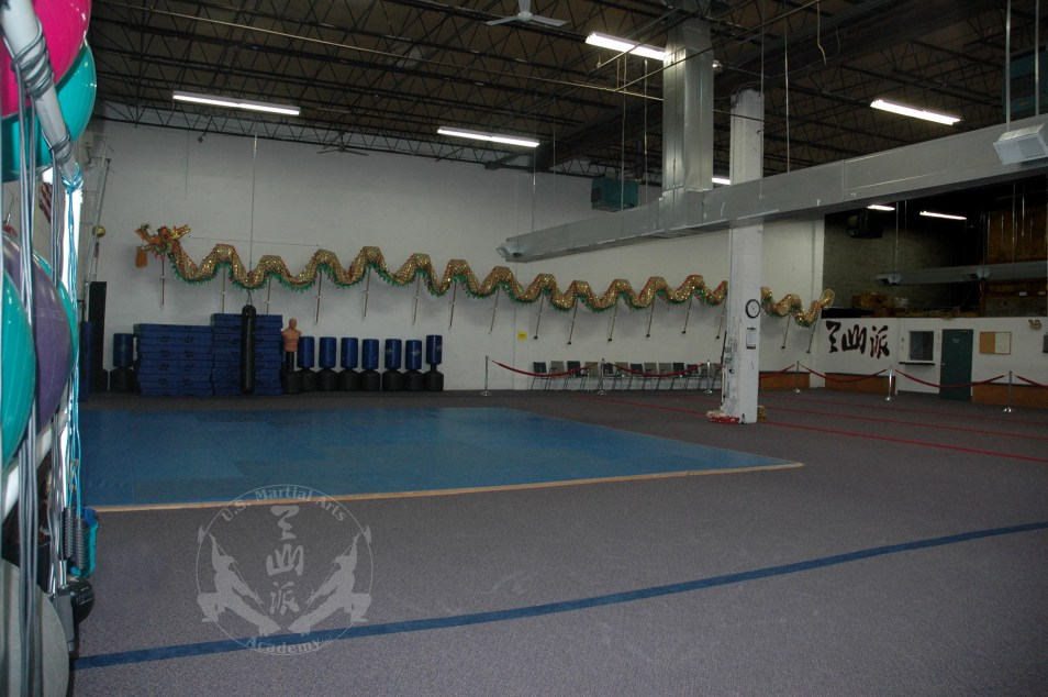 Main classroom at US Martial Arts Academy, Ltd., Timonium, Maryland
