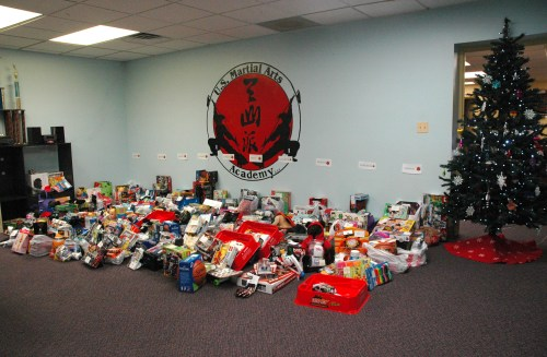 2013 December 17 US Martial Arts Academy Ltd. Holiday Gifts for St. Vincent's Villa