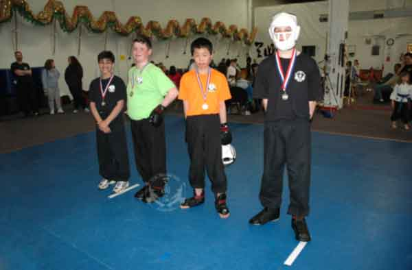 medal winners at the March 2013 In-house Tournament at U.S. Martial Arts Academy, Timonium, Maryland
