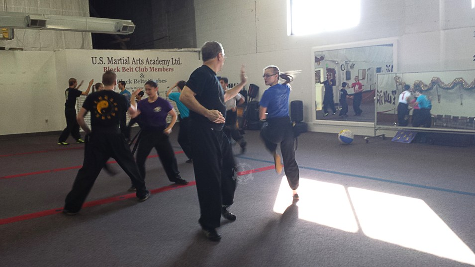 Black Sash Class 2-Man Set practice at US Martial Arts Academy, Ltd in Timonium, Maryland 21093 www.usmaltd.com, 410-561-9882. ©2015 Maricar Jakubowski All rights reserved. No usage allowed in any form without the written consent of the photographer.