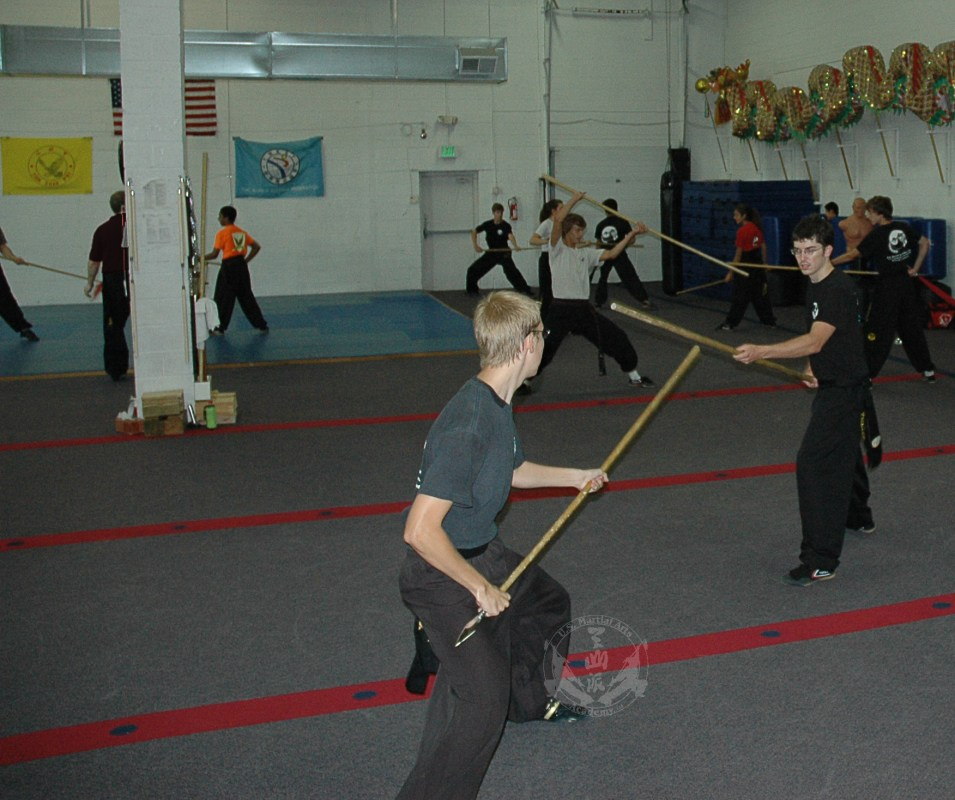 Long weapon techniques in the Black Sash Kung Fu Class at US Martial Arts Academy, Ltd in Timonium, Maryland 21093 www.usmaltd.com, 410-561-9882. ©2015 Maricar Jakubowski All rights reserved. No usage allowed in any form without the written consent of the photographer.