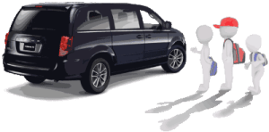 Afterschool Pick Up Minivan and riders clip art created by Maricar Jakubowski ©2017 Maricar Jakubowski All rights reserved. No usage in any form without written consent of the creator. info@usmaltd.com