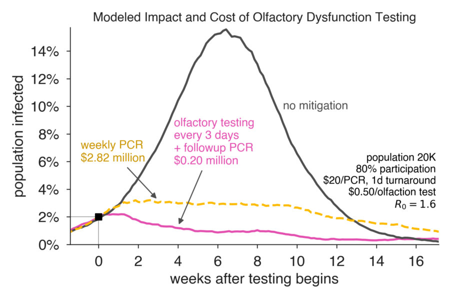Modeled Impact and Cost of Oldfactory Dysfunction Testing