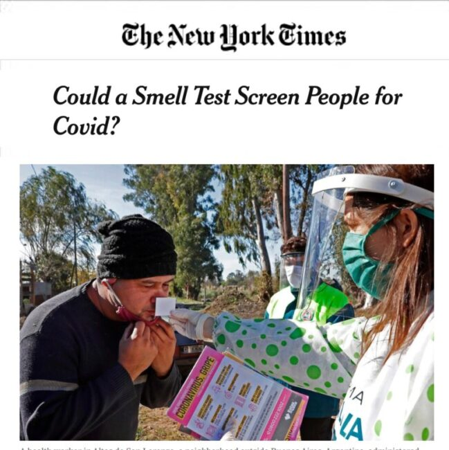 u-Smell-it Test was featured on New York Times