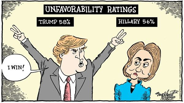 "Image result for trumpo hillary debate cartoon ""media bias"""