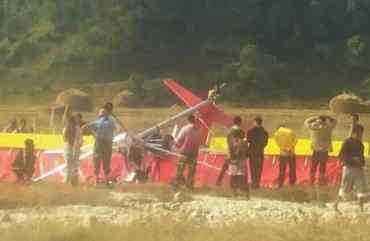 कास्कीमा अल्ट्रालाइट दुर्घटना हुदा एक जनाको मृत्यु