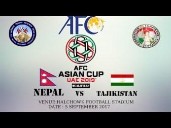एएफसी एसिया कप : नेपालले ताजकिस्तानसँग खेल्दै