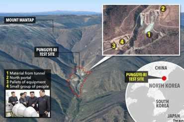उत्तर कोरियाको परमाणु परीक्षण केन्द्रमा दुर्घटना, करिव २०० जनाको मृत्यु