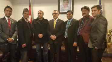 एनआरएनए अमेरिकाद्वारा टिपीएस नविकरणका लागि नेपाली दूतावासमा ज्ञापन पत्र