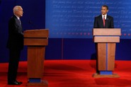 The candidates faced off at the University of Mississippi in Oxford, Miss.