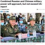 【美國智庫蘭德公司報告稱中俄兩國軍力加一起接近美國但無法超越】
