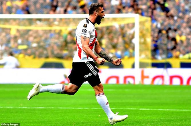 Lucas Pratto got River Plate back on level terms almost immediately with a well taken finish in the first half