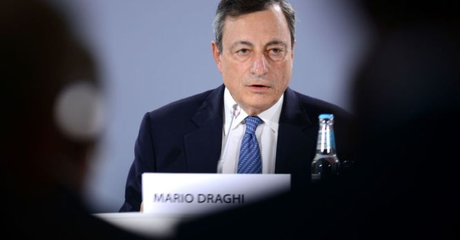 Draghi delivers press conference after monetary policy decision 2