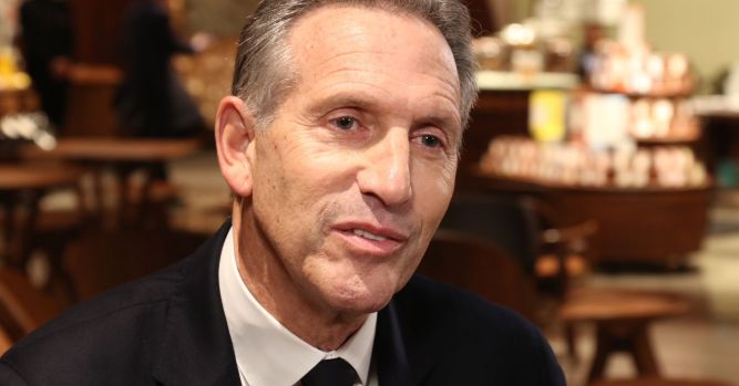 Ex-Starbucks boss Howard Schultz's presidential roll-out went badly 1