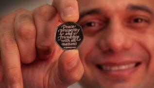 Brexit day 50p coin unveiled by Chancellor Sajid Javid 1