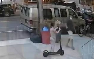 Moment 'lowlife thief' steals six-year-old boy's electric scooter 2