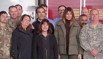 First Lady Melania Trump and Second Lady Karen Pence