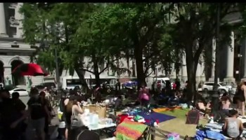 Occupy City Hall grows in numbers as NYPD budget deadline looms