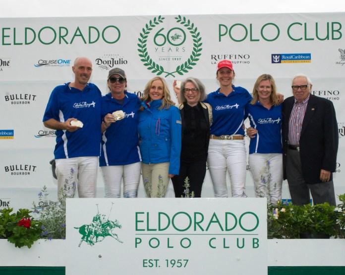 Second place team Shore thing: Rodrigo Salinas, Abby Riggs, Malia McCoy and Lamar Rutherford.
