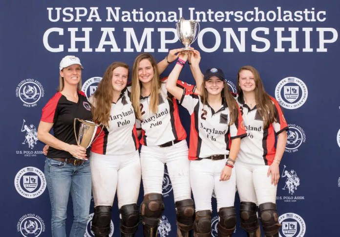 2019 Girls' National Interscholastic Championship Champions: Maryland - Kelly Wells, Abbie Grant, Catie Stueck, Olivia Reynolds, Sophie Grant.