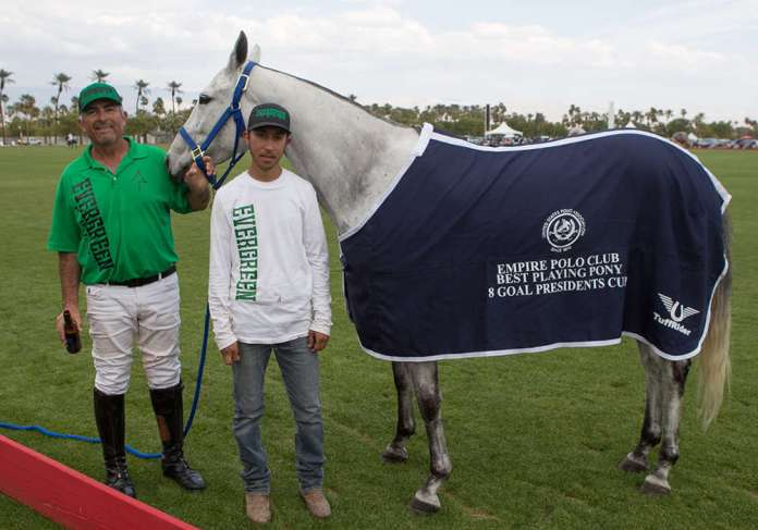 Best Playing Pony Quidget, pictured with Carlos Galindo and Giovanni Espinoza.