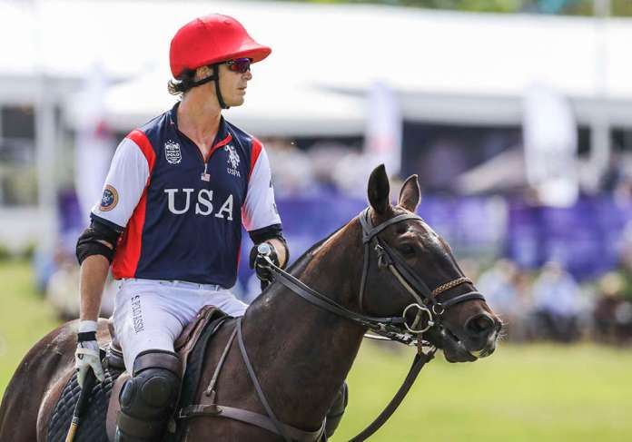 Team USA's Felipe Viana takes the field during the 2017 XI FIP World Polo Championship.