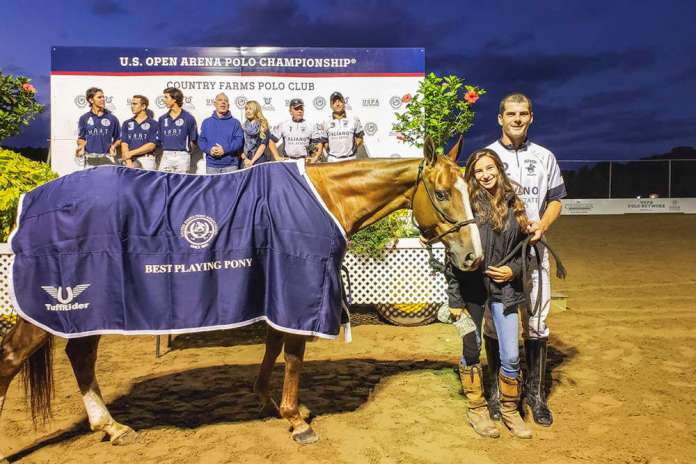 Polite, ridden by Pedro Gutierrez in the fourth chukker was presented with the Best Playing Pony blanket.