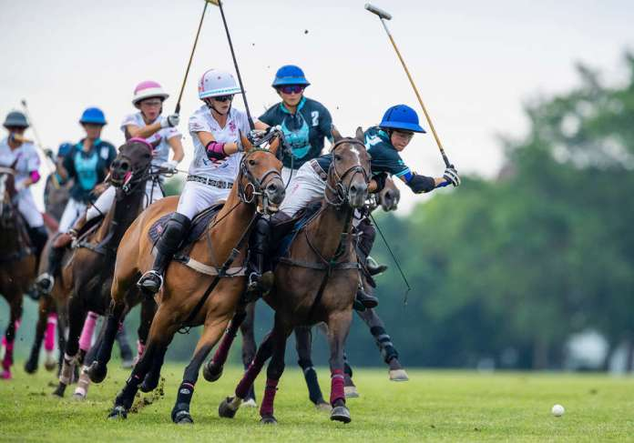 Competiton in the 2019 East Coast Women's Polo Championship. ©Jason Evans