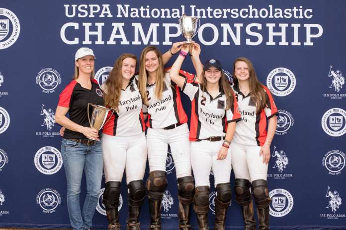 2019 Girls' National Interscholastic Championship winners Maryland - Kelly Wells, Abbie Grant, Catie Stueck, Olivia Reynolds, Sophie Grant