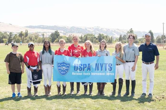 South Bay Polo Club NYTS participants (L to R) Ajay Moturi, Anya Moturi, Justine Efcavitch, Petra Teixeira, Taylor Olcott, Mia Sweeney, Sara Espy, Emilie Sanche.