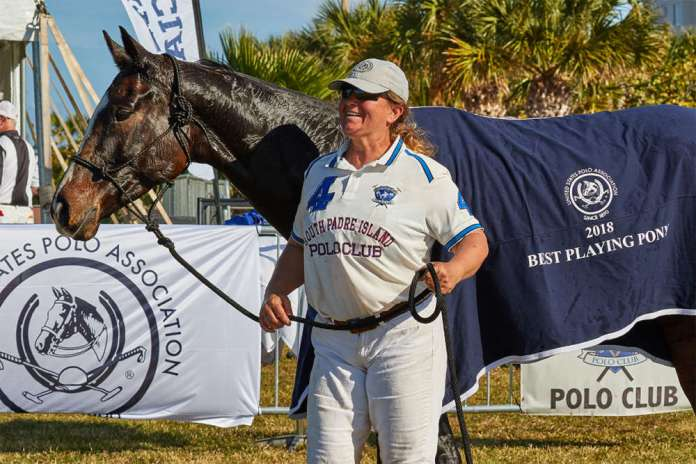 Best Playing Pony Pata Blanca pictured with Robin Sanchez.