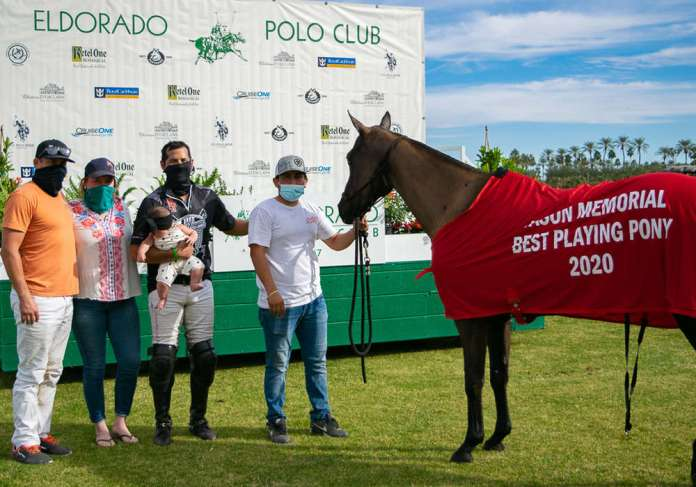 Mamba was named the Best Playing pony at the Mack & Madelyn Jason Memorial