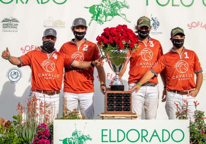 12-Goal Spreckels Cup Champions: Cavallo Ranch - Tomas Obregon, Alejandro Gonzalez, Max Menini, John Bickford.