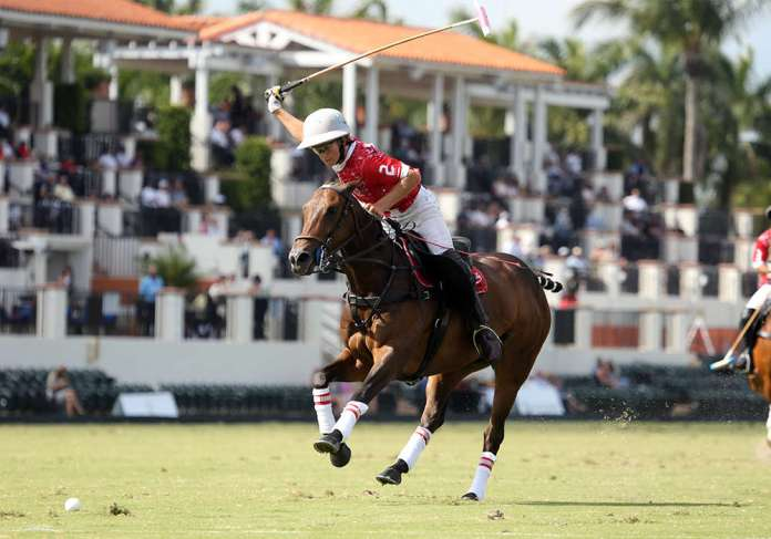 Coca-Cola's Mackenzie Weisz lining up a neckshot on the U.S. Polo Assn Field 1. ©David Lominska
