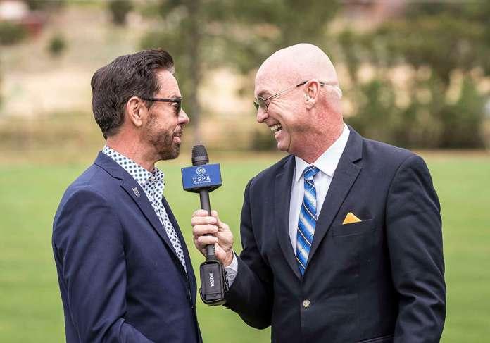 Schwetz interviewing USPA CEO Bob Puetz.