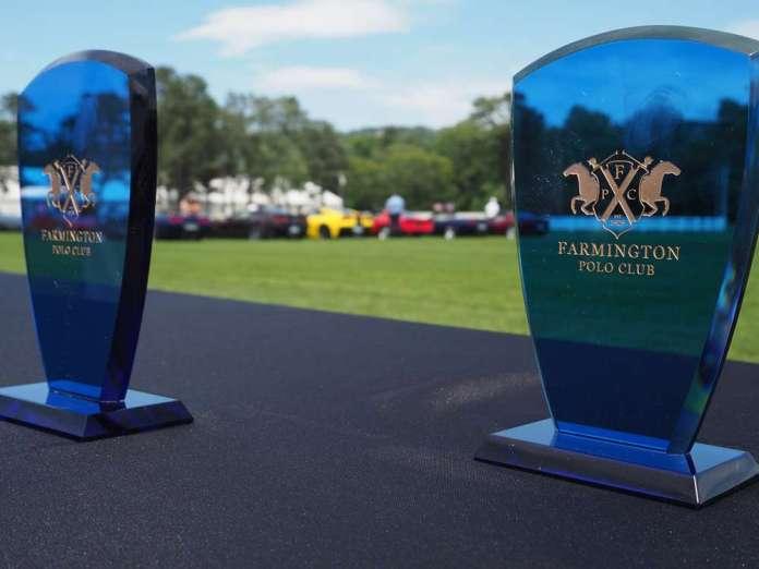 Trophies at Farmington Polo Club.