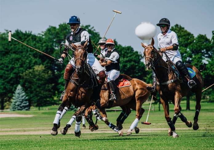 Having been around horses his entire life, Aschebrook started playing polo almost 10 years ago in 2012 when his wife gifted him lessons.