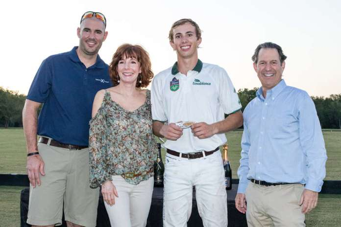 Most Valuable Player: Vaughn Miller Jr., presented by Kitch and Marcy Taub with Kyle Bodden of Celebrity Cruises.