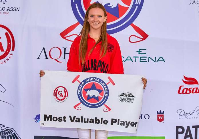 Galvin Agency Most Valuable Player Whitney Walker.