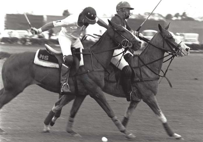 March 22 1981  Boca v. 12 Oaks Mike Sparks and John Oxley (42712) ©Museum of Polo web