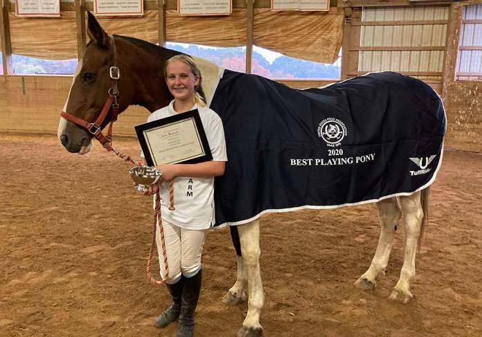 Best Playing Pony Cherokee, owned by Marlan Farm and played by Izzy Brockett.