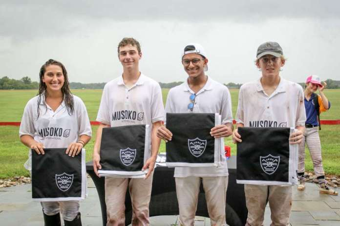 Seneca Polo Club NYTS Qualifier Winners: Musoko - (L to R) Bella Hamon, Pelham Hardie, Aman Sharma, Jim Deal