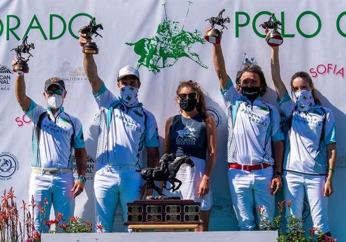 Pacific Coast Circuit Constitution Cup C-Flight Champions: La Salle Properties - Bob Gray, Luis Saracco, Santiago Topo Mendez, Micaela Saracco. Presented by Dre Salas.
