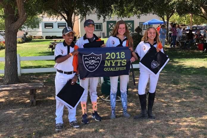 South Bay NYTS Qualifier champions South Bay Polo Club (L to R) Ajay Moturi, Jack Whitman, Katie Kriege, Sara Espy.
