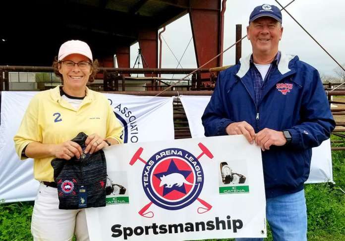 Sportsmanship and #FanFavorite winner Wendy Stover with Tom Goodspeed