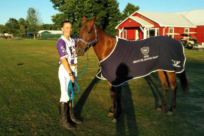 Toronto Polo Club Best Playing Pony Petunia, played by Jenna Tarshis and owned by Tyler Sifton.