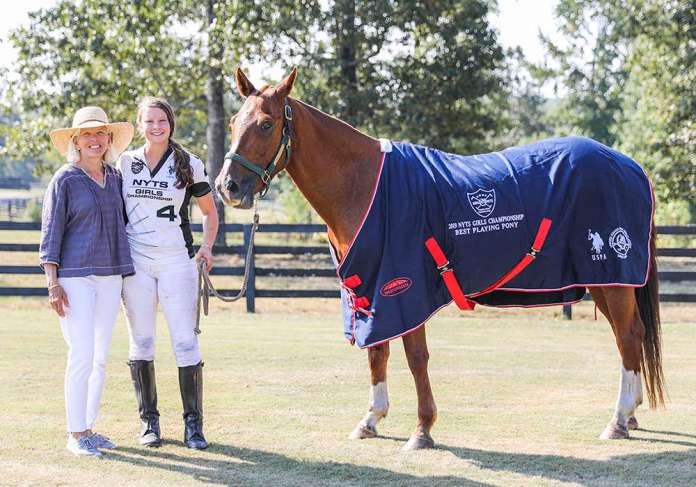 2019 NYTS Girls Championship BPP - Sydney - played and owned by Sophie Grant presented by Governor at Large, NYTS and Junior Polo Committee Chairman Chrys Beal ©United States Polo Association