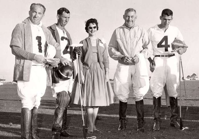 Bert Beveridge, #1 left, with #2 Ray Harrington, George Oliver and #4 Bennie Gutierrez Photo: Museum of Polo Archive