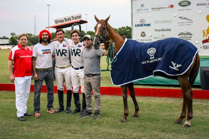 Best Playing Pony: Lavinia Infama played by Facundo Obregon, owned by Toly Ulloa, pictured with (L to R) Brooks Ballard, Pablo Albornoz, Facundo Obregon, Toly Ulloa, and Facundo Tolosa.