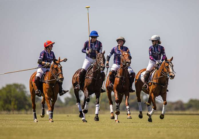 Dawn Jones' team, Santa María de Lobos Fred Segal Polo Gear.